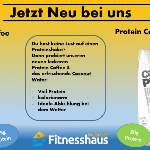Neu: Protein Coffee & Protein Coconut Water
